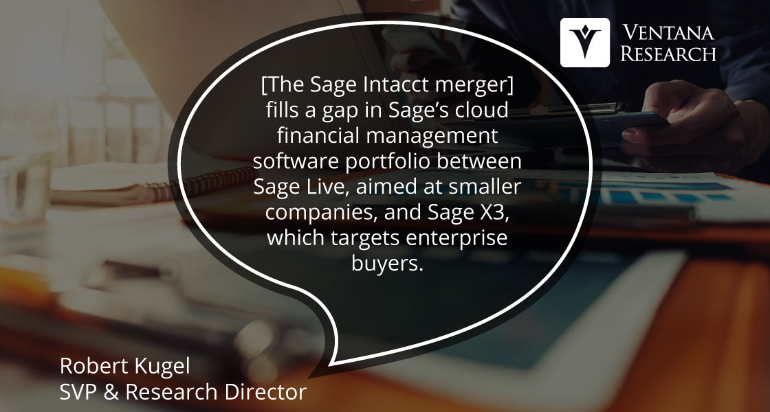 Intacct is a Sage Investment